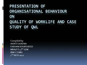 Presentation Of Organisational Behaviour