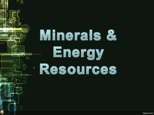 minerals and energy resources in india