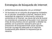 Estrategias de bsqueda de internet