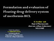 FLOATING DRUG DELIVERY SYSTEM ON METFORMIN HCL