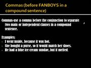Commas(after introductory words, phrases and clauses)