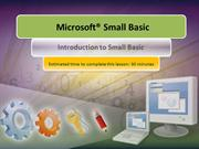 1.1 - Introduction to Small Basic