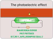 XII PHYSICS CP- 11 Dual nature of light and Photoelectric effect
