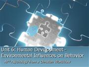 Psychology  Unit  6  -  Human  Development