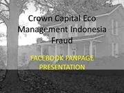 FACEBOOK FANPAGE PRESENTATION - Crown Capital Eco Management Indonesia