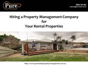 Hiring a Property Management Company for Your Rental Properties