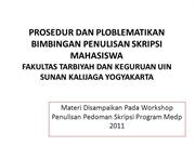 Workshop Buku Panduan Skripsi MEDP