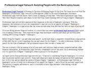 Professional Legal Network Assisting People with the Bankruptcy Issues