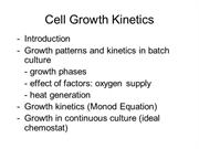 lecture notes-growth kinetics--growth phases