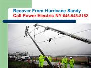 Hurricane, Sandy Recovery,  Electrician, Electrical Installation  NY