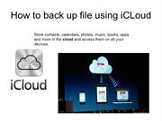 How to back up file using iCLoud
