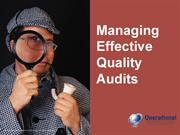 Managing Effective Quality Audits by Operational Excellence Consulting