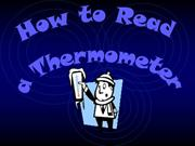 How to read a thermomether