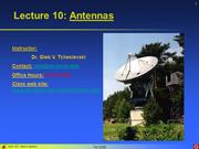 Lecture 10 - Antennas