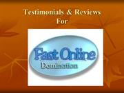 Fast Online Domination reviews