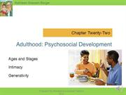 Berger Ch 22 Adulthood Psychosocial narrated