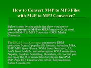 How to Convert M4P to MP3 Free, M4P to MP3 Converter Free Download
