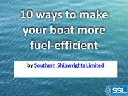 10 ways to make your boat more fuel-efficient