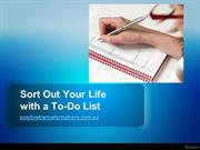 Sort out your life with a to-do list
