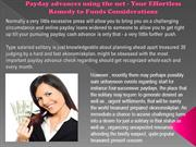 Payday advances using the net - Your Effortless