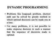 DYNAMIC PROGRAMMING