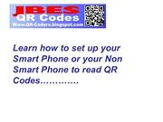 Set up your phone to read QR Codes