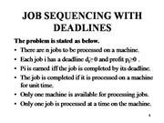 JOB SEQUENCING