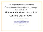 SADC Capacity Building Workshop