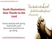 Youth Illustrations - Give Thanks to the Lord