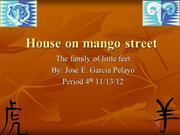 House on mango street jose garcia pelayo