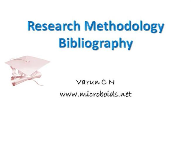 what is bibliography in research methodology