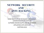 NETWORK SECURITY AND ANTIHACKING