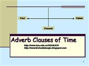 ADVERB N CLAUSE OF TIME