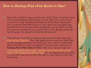 How to Backup iPad ePub Books to Mac