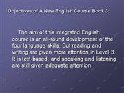 book 3 new english course in ppt