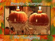 Pumpkin Centerpieces for Thanksgiving
