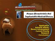 CME ON: Bio-implant,Biomedical devices- Application.