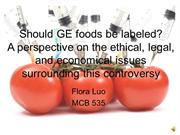 GE food labeling