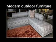 Modern outdoor furniture ppt