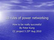 10 rules of power networking