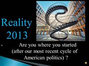American Economic Reality in 2013