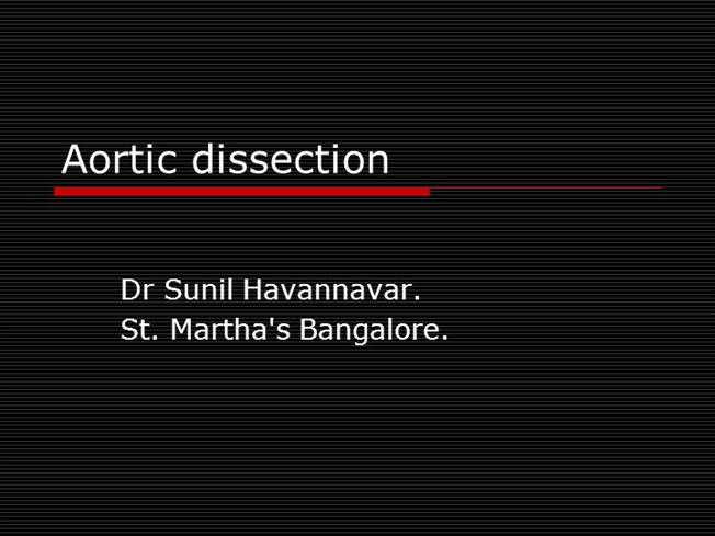aortic dissection ppt