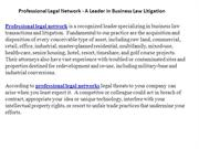 Professional Legal Network - A Leader in Business Law Litigation