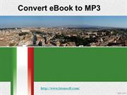 How to Convert eBook to MP3
