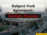 Indefinite Pronouns: S-V Agreement