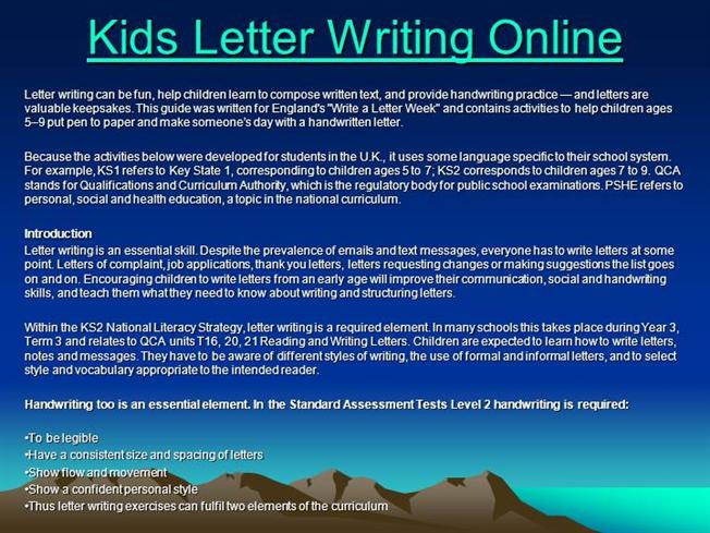 kids letter writing online authorstream