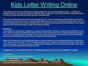 Kids Letter Writing Online