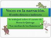 Voces en la narración
