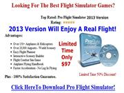 Pro Flight Simulator 2013 | Flight Simulator 2013 For Pc