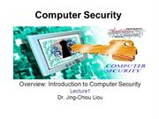 CPS3498 - Computer Security  - Lec 1 -Overview